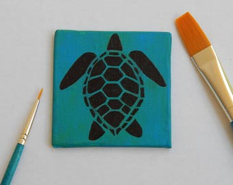 Sea Turtle Painting / Magnet