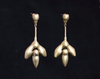 EDITHA earrings : modern bronze earrings