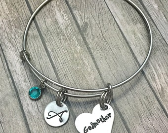 Godmother gift -Gift for godmother - Godparent gift - Godmother jewelry - Godmother bracelet - Gift from godchild