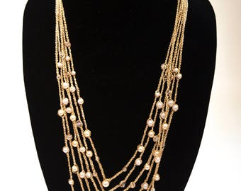 PEARLS Knitted Necklace