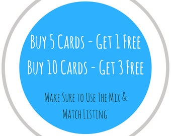 Mix & Match Card Set - Buy 5 or 10 cards and save - Pun Cards