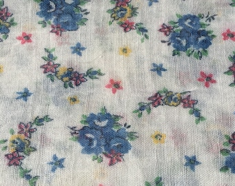 Vintage Sheer Cotton Quilt / Dress Fabric sold by the Yard.