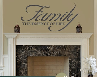 Family Wall Decal - Family The Essence Of Life Vinyl Wall Art Decal - WD0097