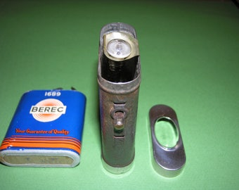 Vintage  Flashlight with  old berec battery.
