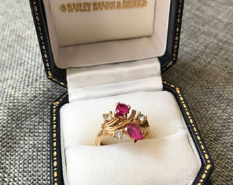 Pink Gemstone Ring // Gift for Her