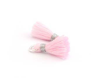Small PomPoms 2 set of 2 cm / pink pale FM P148