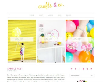 WordPress Blog Template - WordPress Theme, Colorful WordPress, WordPress Website, WordPress Mobile Responsive, Genesis Child Theme