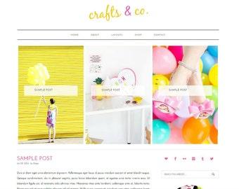 WordPress Blog Template - WordPress Theme, Colorful WordPress, WordPress Website, WordPress Mobile Responsive, Genesis Child Theme
