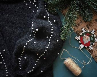Knit sweater handmade