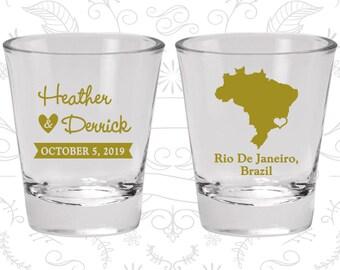 Brazil Shot Glass, Brazil Shot Glasses, Brazil Glass, Brazil Glasses, Brazil Glassware (164)