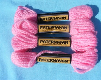 Paternayan Persian Wool Yarn 963 Hot Pink-8yd each(4 skeins)