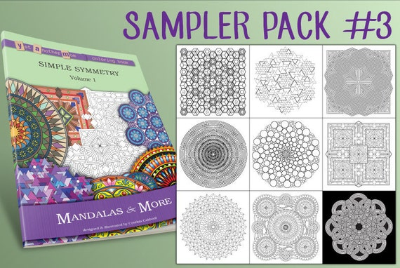 Mandalas More Coloring Pages Sampler Pack 3 Instant