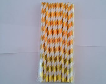 Silver Striped Party Paper Drinking Straws Gold Red Green Grey Purple Pink Yellow Black Rose Gold Light Blue