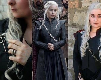 Daenerys Targaryen Season 7 Three Headed Dragon Pin & Chain Only Game of Thrones Cosplay