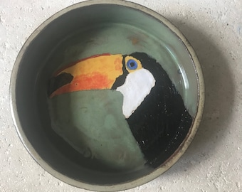 Toucan bowl or small casserole dish