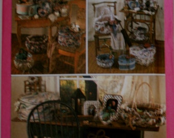 Simplicity 9471 Retired Basket, Hat Box, Picture Frame, Sewing Pattern Uncut