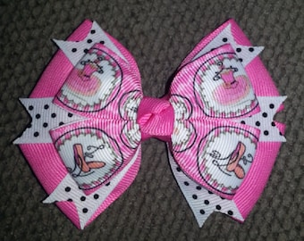 Ballerina Handmade Pink Black White Boutique Bow