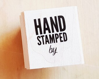 Hand Stamped by Rubber Stamp retired from Stampin Up