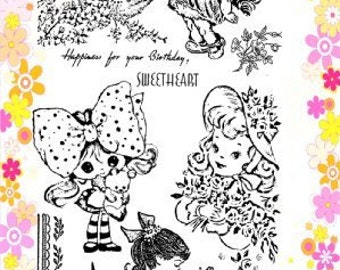 """Sweet Little Sister // Clear stamps pack (4""""x7"""") FLONZ"""