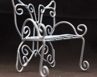 Fairy Garden Butterfly Wire Chairs