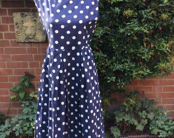 Late 1950's Early 60's Spotty Dress