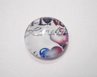 1 cabochon clear 20mm London theme