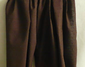 Chocolate-brown color and relief plumetis cotton gauze scarf