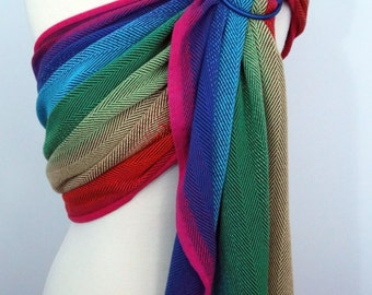Didymos wrap conversion ring sling- Rainbow Lisca, 100% Cotton - WCRS