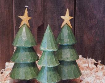Carved Trees (Set of Three)