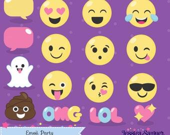 INSTANT DOWNLOAD - Emoji Clipart and Vectors