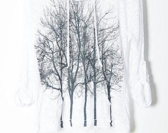 Fairytale Trees Hoodie White