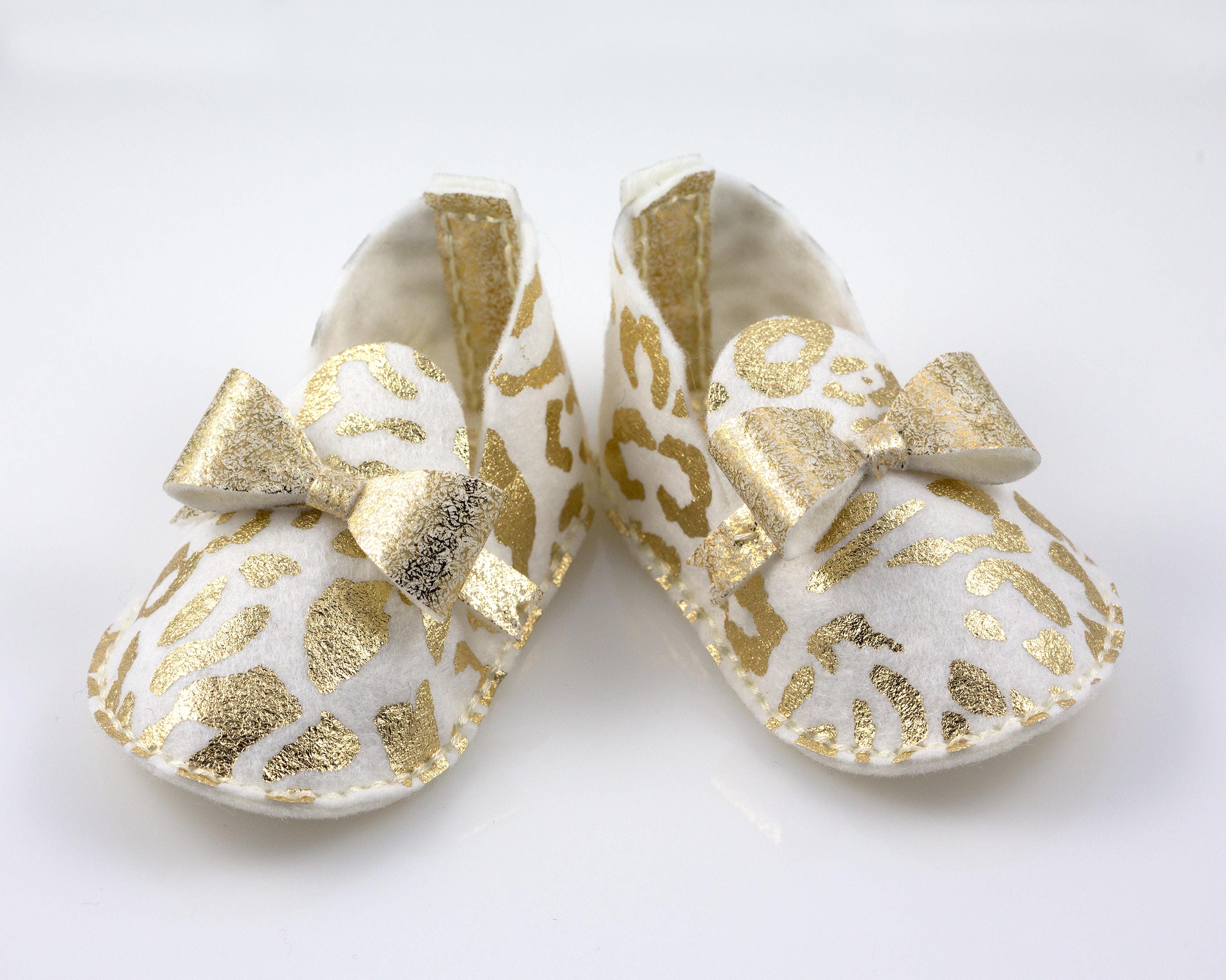 Glamorous Baby Girl Booties Metallic Gold Baby Shoes Princess Baby