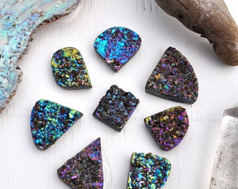 Titanium Druzy Cabochon Gemstone Lot