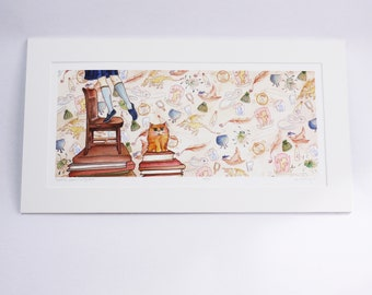 BOOKISH BRAVE & BRIGHTEST faerie tale feet limited edition archival print, signed, numbered, and titled by the artist halthegal