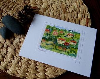 Greeting Card - Tuscany Houses - Italian Scene