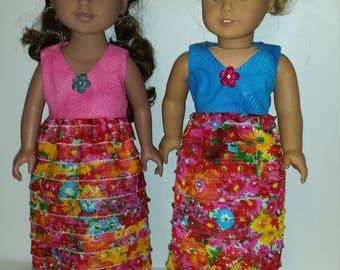 American Made 18 inch Girl Doll Dress