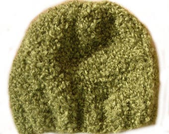 Khaki short yarn Beanie plush