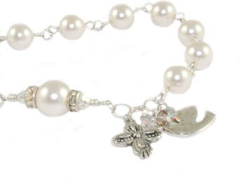 Confirmation Gift / Anglican Rosary Bracelet /  White Pearl Christian Jewelry