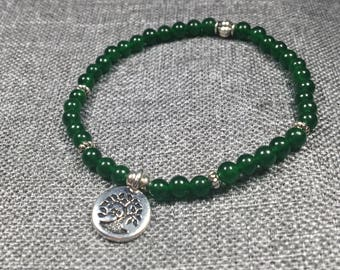 Emerald Jade Bracelet with charm