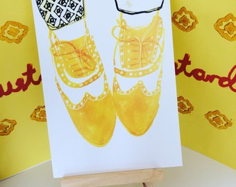 Mustard Brogues Postcard - Fashion - Shoes