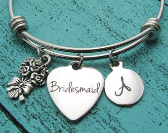 personalized bridesmaid gift, bridesmaid jewelry, wedding gift, for bridesmaid, bridesmaid personalized gift, bridesmaid bracelet