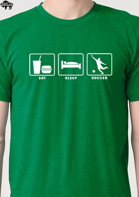 Soccer Shirt Eat Sleep SOCCER Mens T Shirt Fathers Day Gift