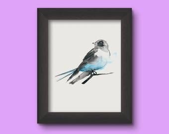 Aquarell vogel - Vogel - perfecte Gift - 20 x 30