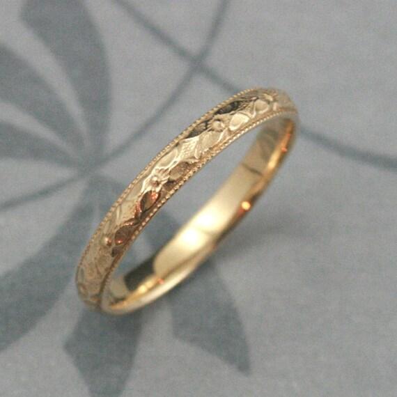 Orange Blossom Ring14K Gold Renaissance BandWomen\'s