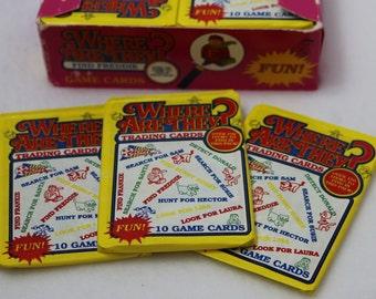 3 Packs of Vintage Where Are They? Game Cards 1991 Wax Packs