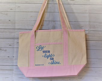 Let Your Light So Shine Reusable Tote Bag
