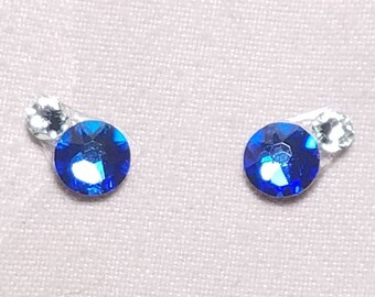Blue Volcano & Pale Green Eye Candies ATS Tribal Fusion Bindi - 00126