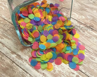 Tissue Paper Confetti, rainbow confetti, birthday party decor, party confetti, piñatas, rainbow table scatter, confetti pop, 1st birthday
