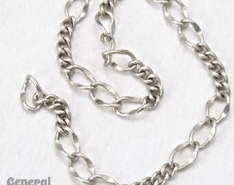 5mm x 3mm Antique Silver Figaro Chain #CCF258
