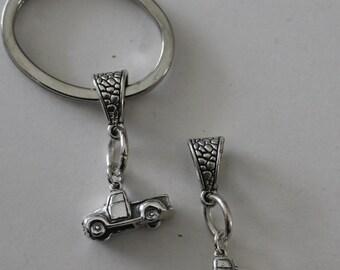 Sterling 3D PICKUP TRUCK Key Ring - Key Chain - Transportation